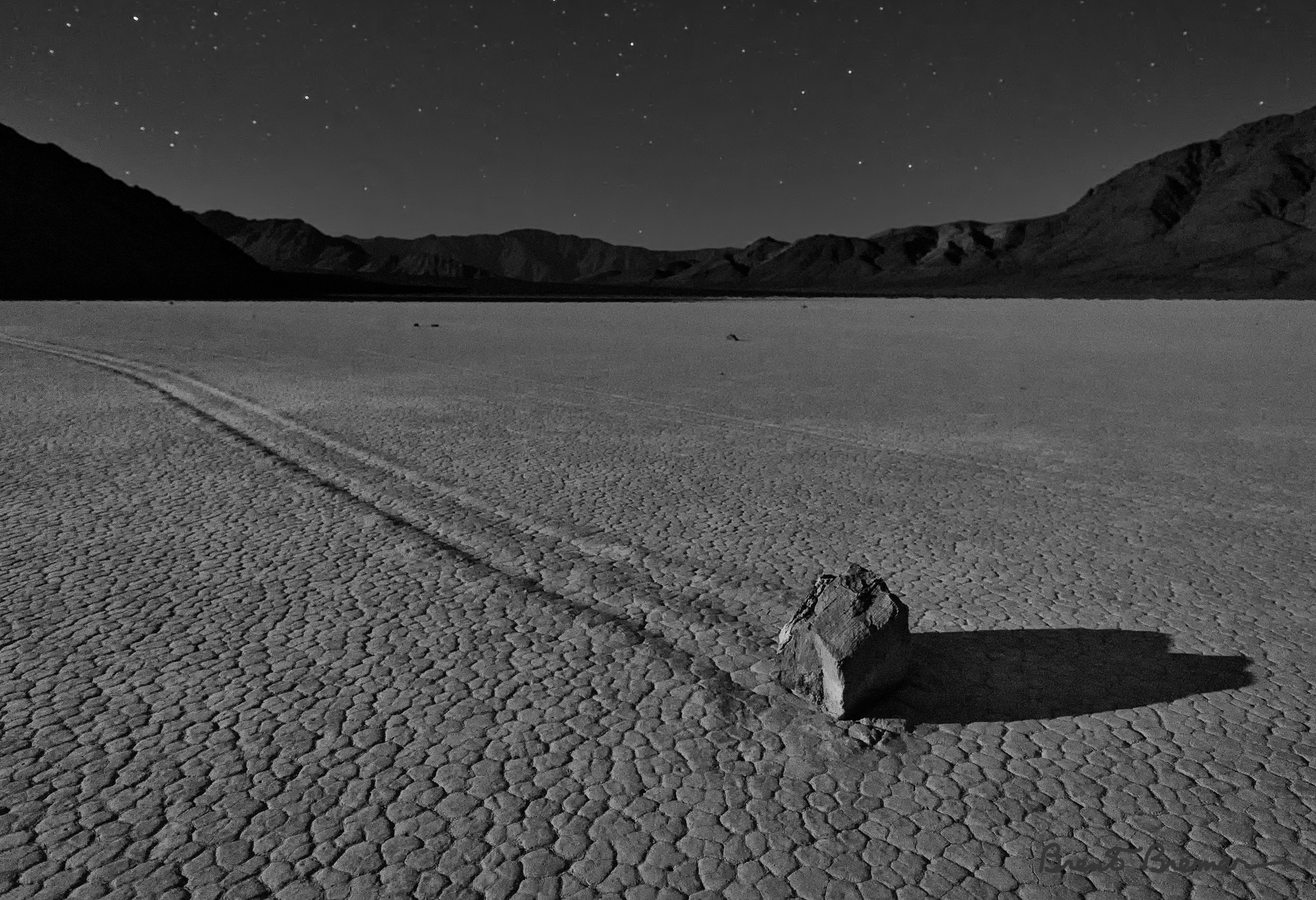 Moonlit Racetrack Playa - Brent Bremer