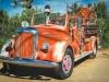 Desert Fire Truck Art