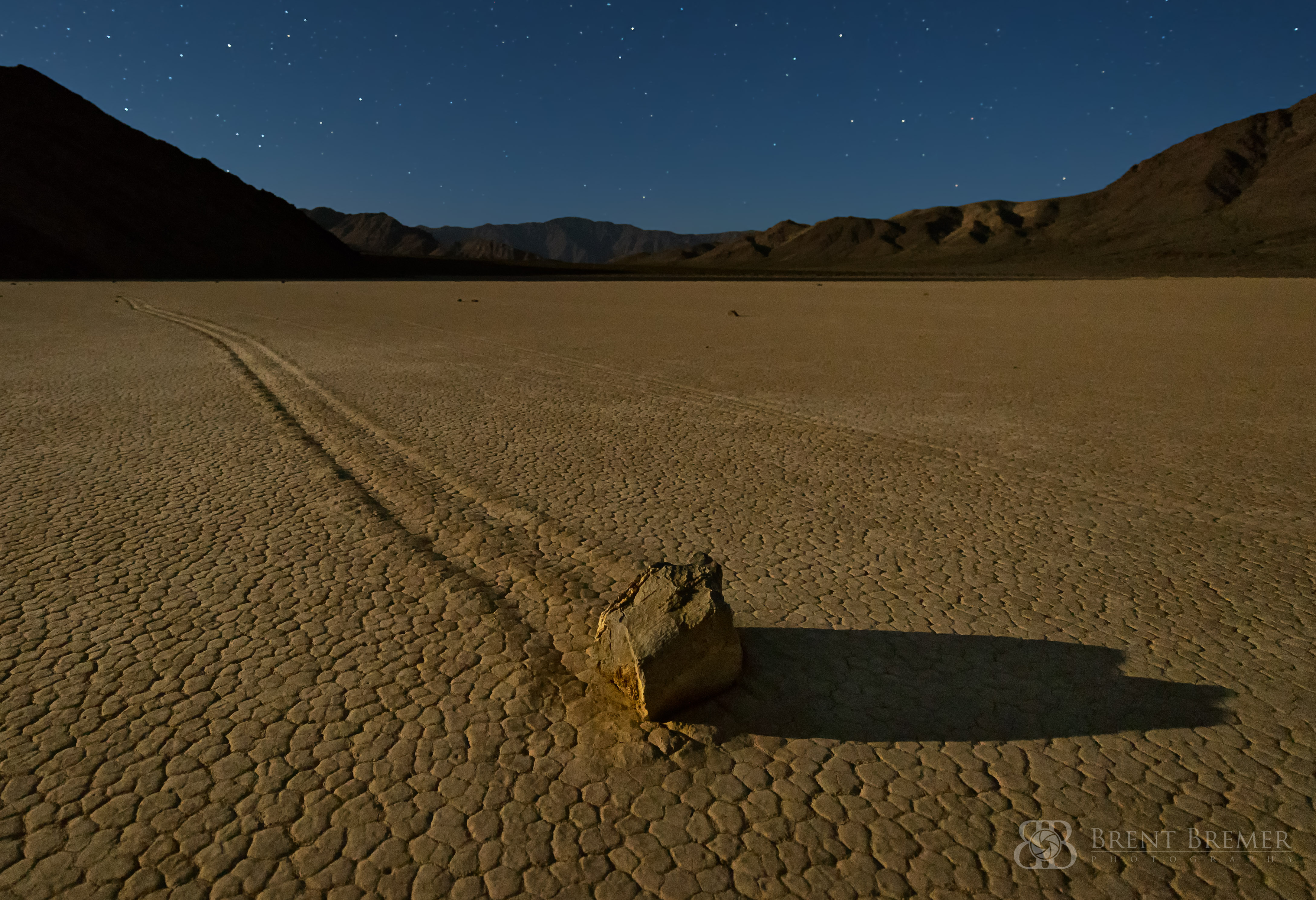 Moonlit Racetrack Playa