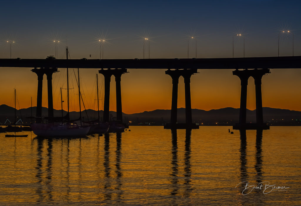 Coronado Bridge Sailboats