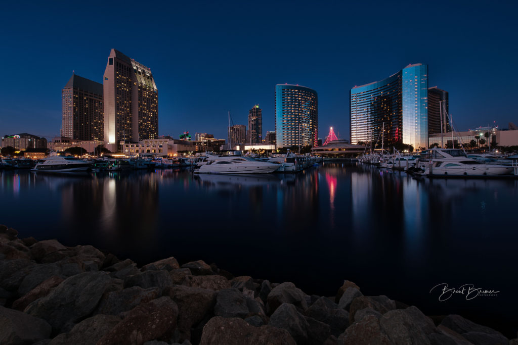San Diego Embarcadero Blue Hour